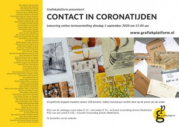 on line expositie contact in coronatijd grafiekplatform
